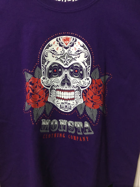 TEE: Childrens Purple Skull Tee - Monsta Clothing Australia