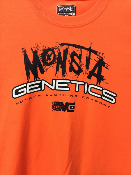 TEE: Orange Monsta Genetics Tee Childrens - Monsta Clothing Australia