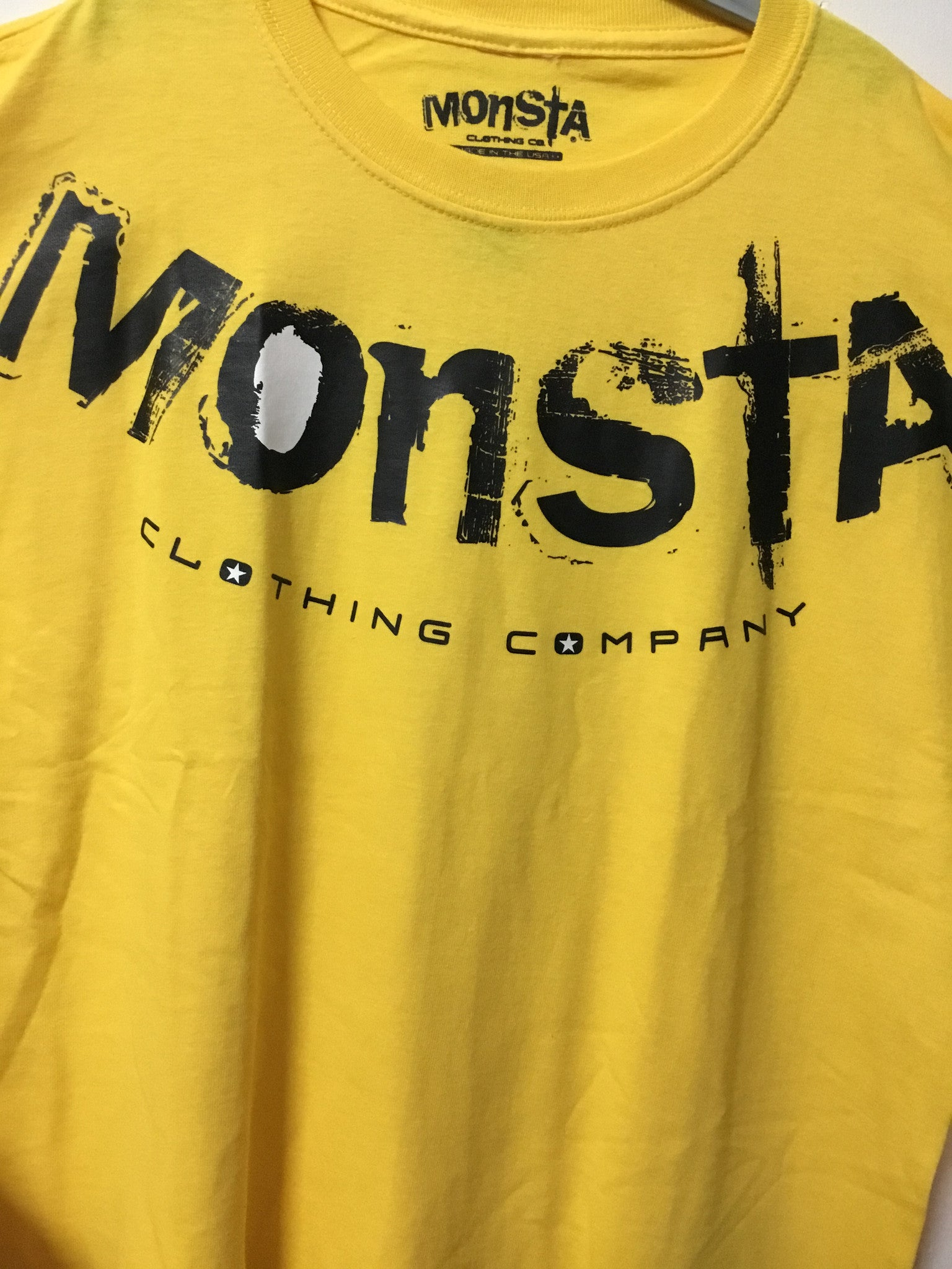 Tee Yellow Monsta tee Childrens - Monsta Clothing Australia