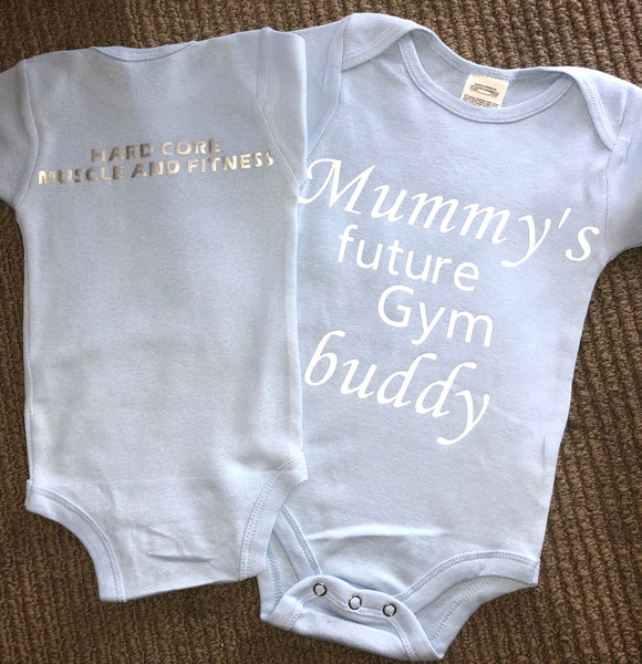 BABY: MUMMY'S FUTURE GYM BUDDY size 6-12 months