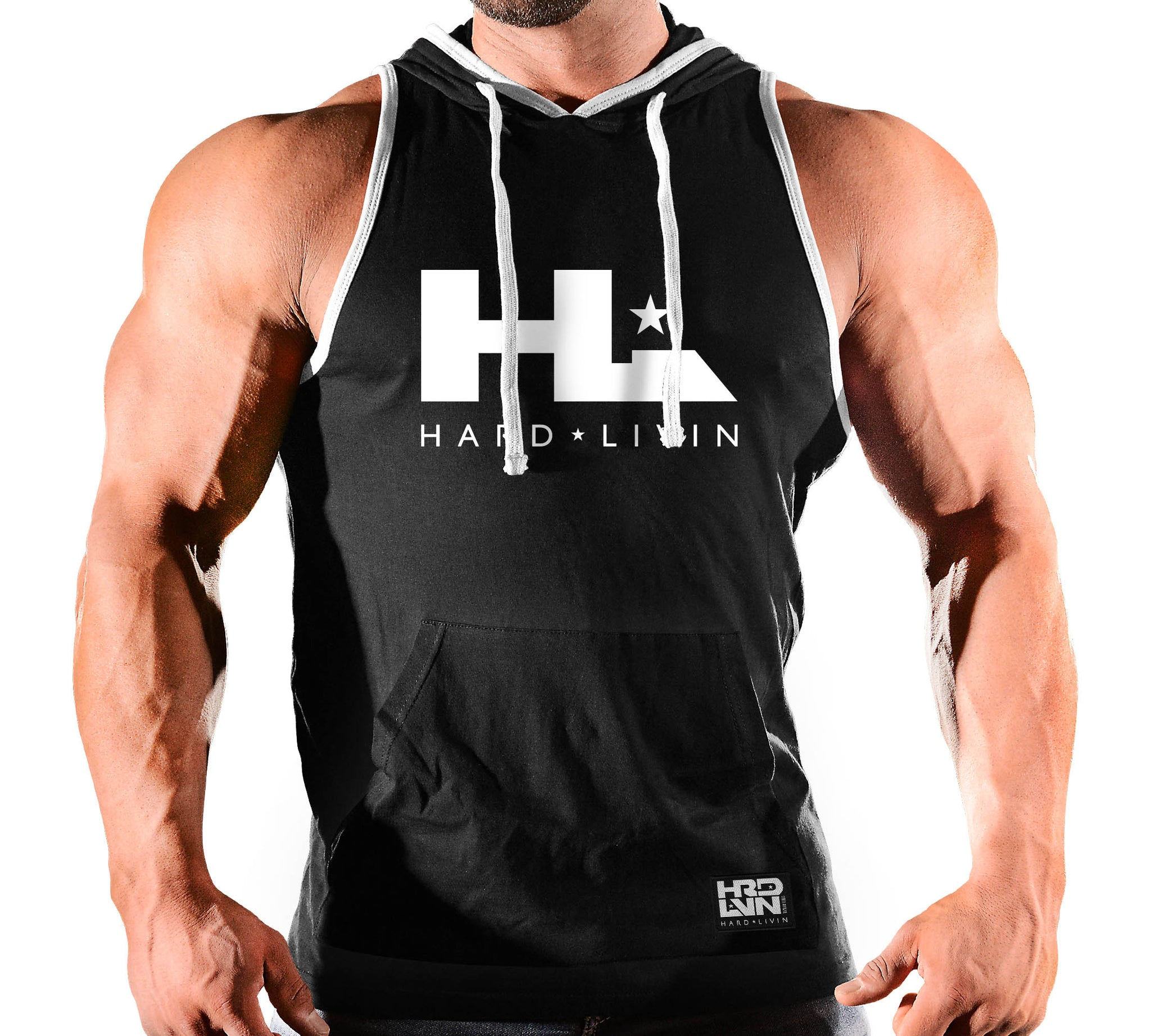 HOODED SLEEVELESS HARD LIVIN 22