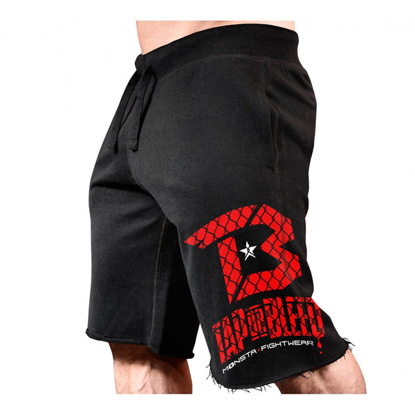 SHORTS: TAP OR BLEED (CAGE PRINT) SWEATSHORTS-273 - Monsta Clothing Australia