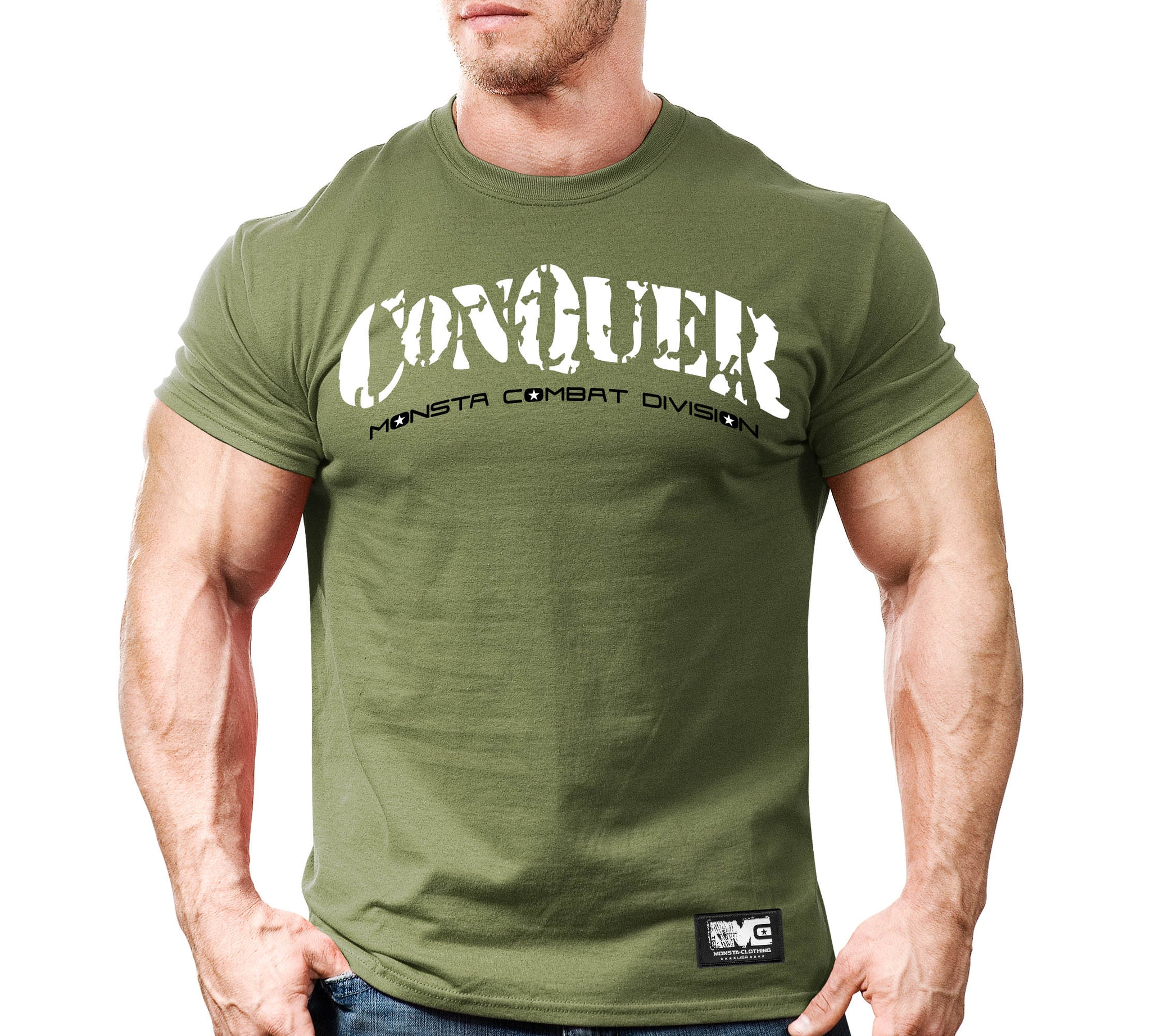 Tee: CONQUER Overcome The Pain