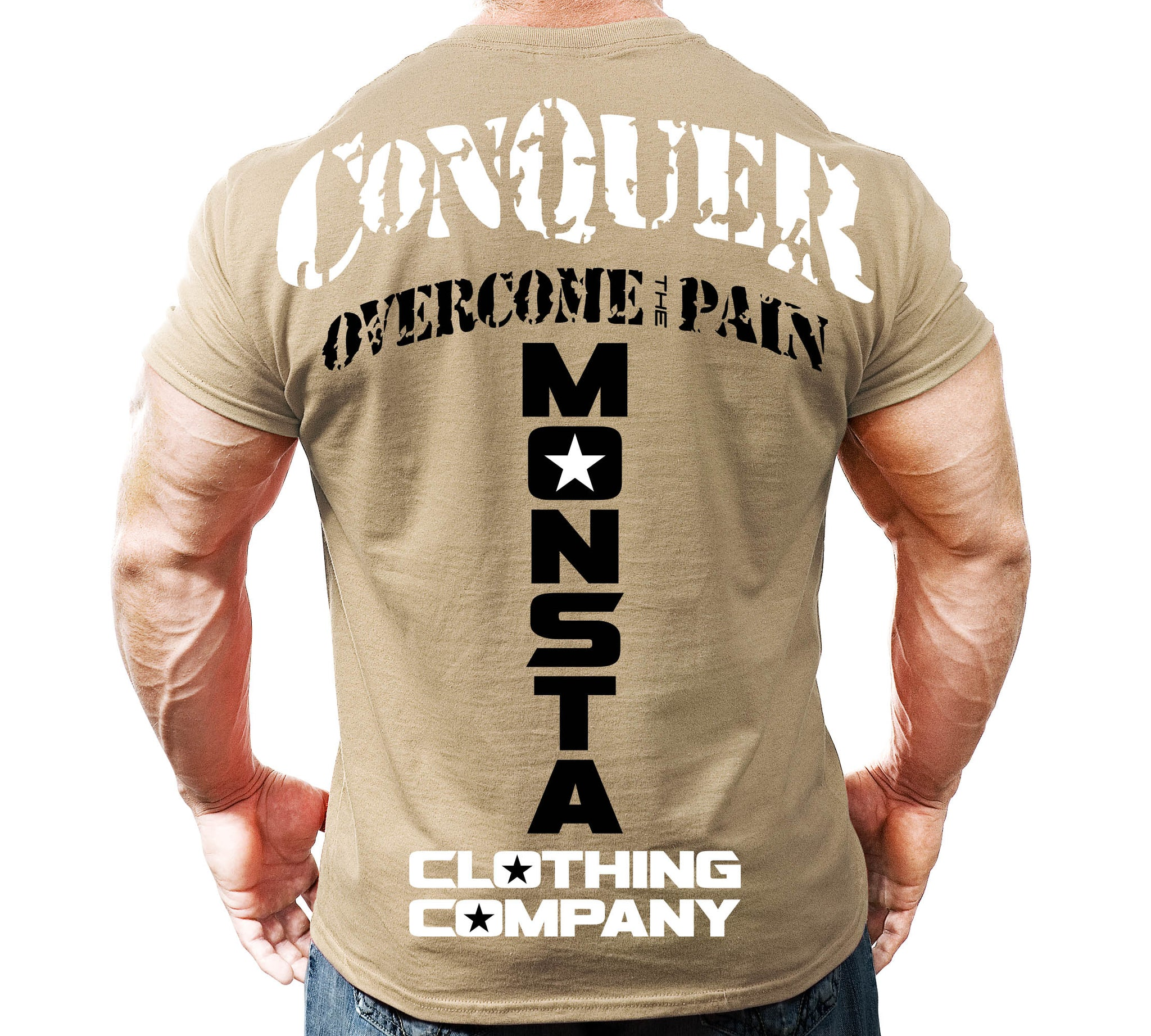 Tee: CONQUER Overcome The Pain - Monsta Clothing Australia
