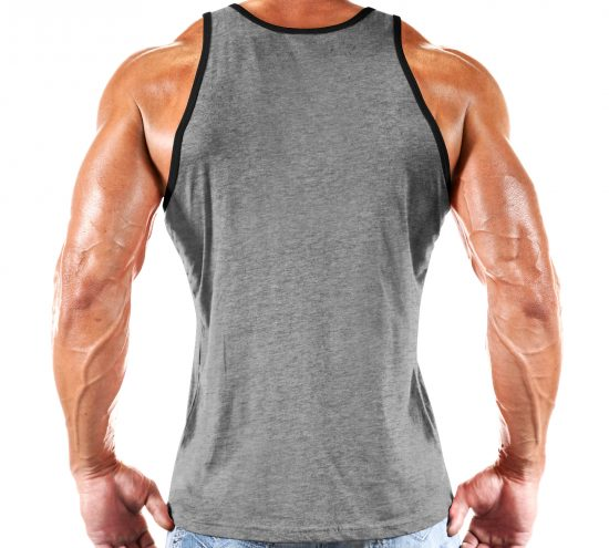 TANK: STRENGTH & CONDITIONING GREY WITH BLACK TRIM -240 - Monsta Clothing Australia