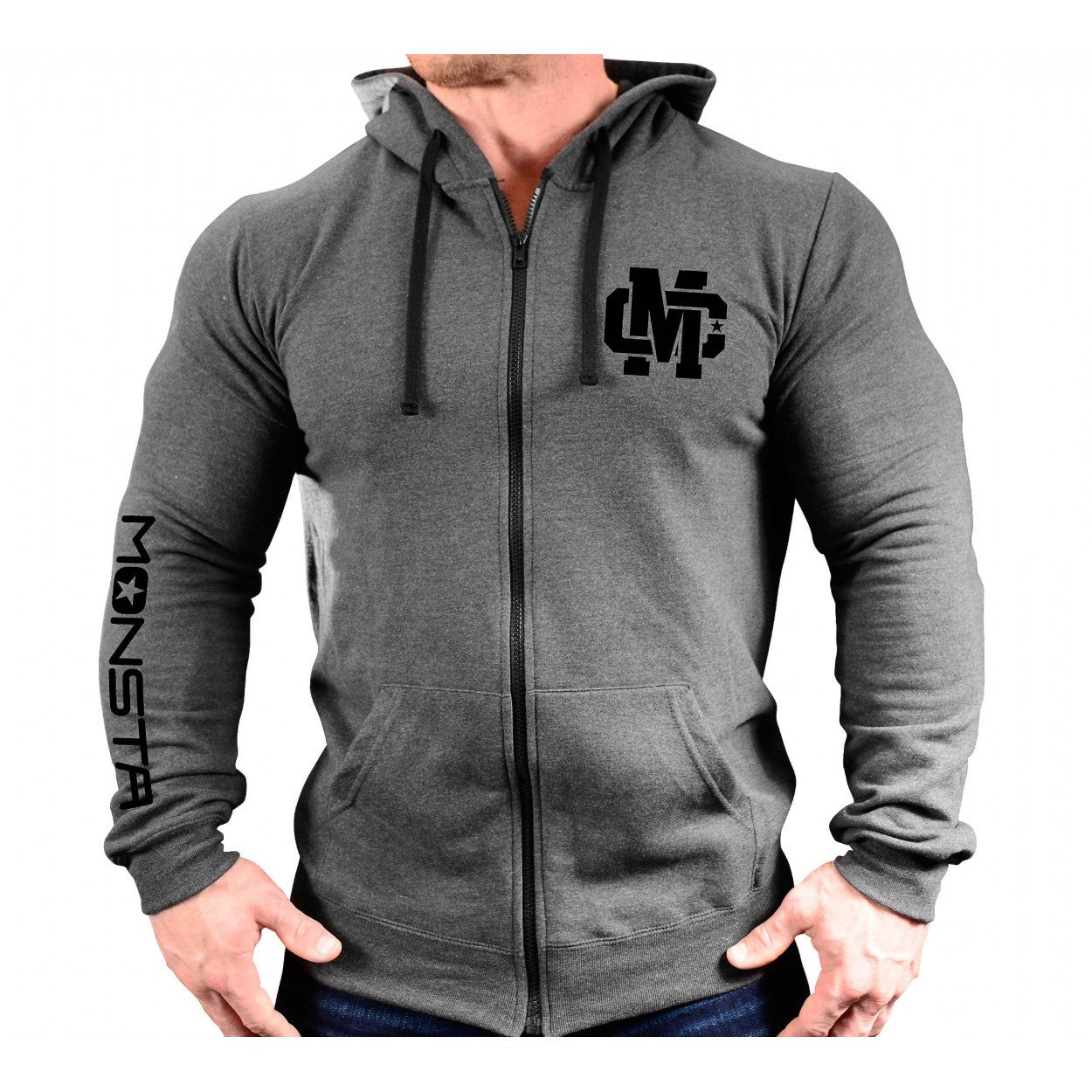 ZIPPER HOODIE: MC CREST-230 - Monsta Clothing Australia