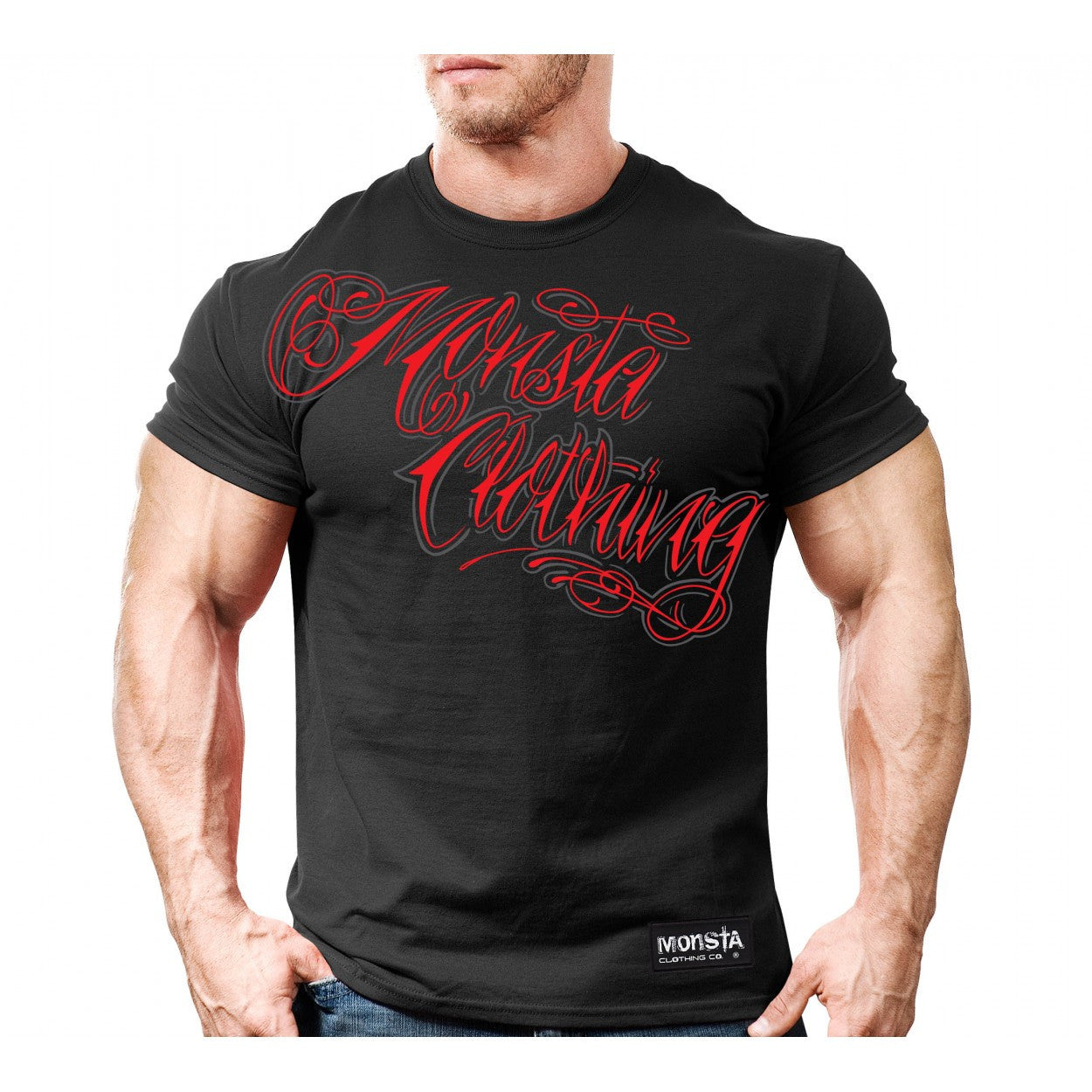 Tee: Monsta Tattoo Script - Monsta Clothing Australia