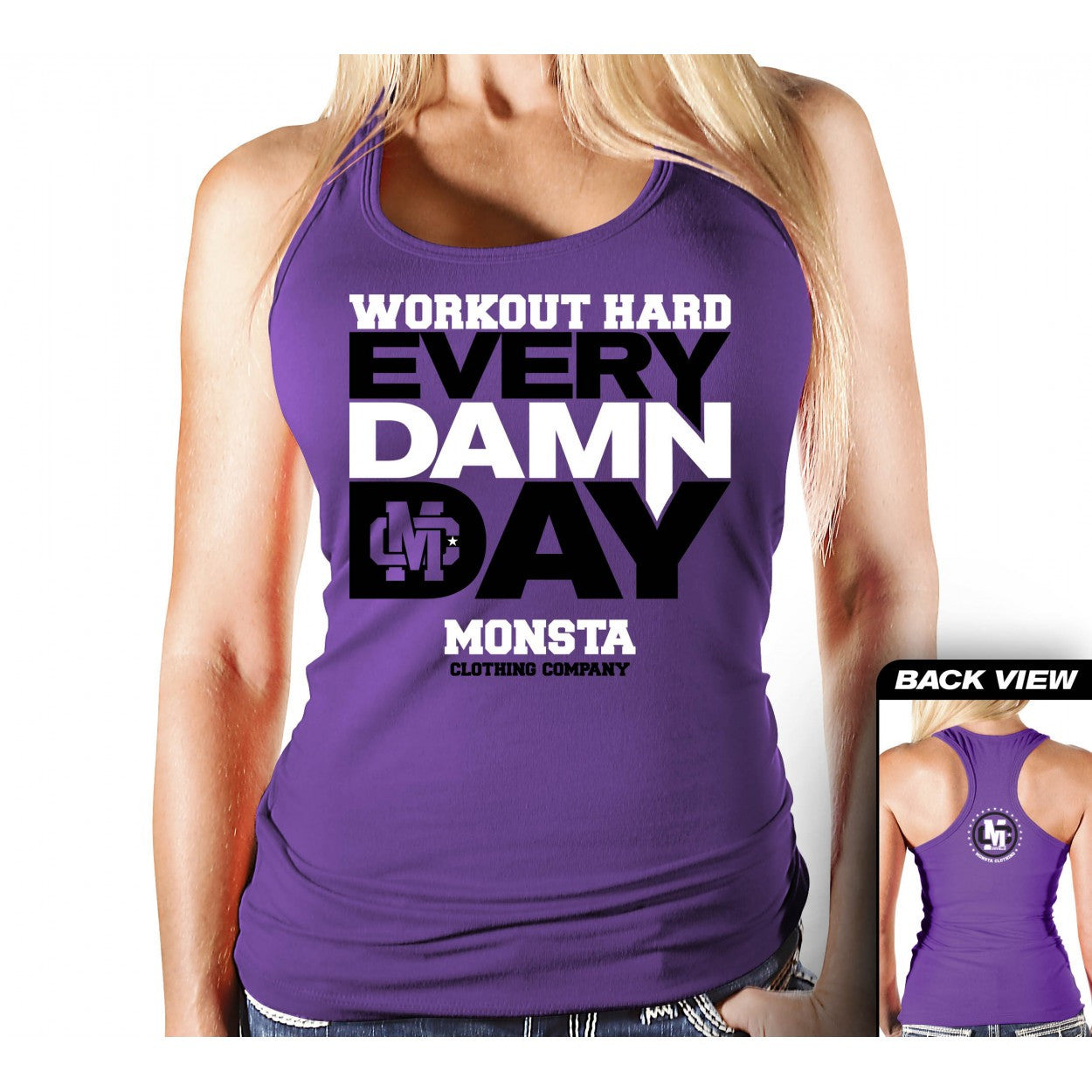 Tank: Workout Hard Every Damn Day-208 - Monsta Clothing Australia