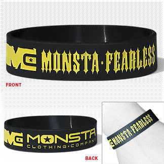 Wristband: Fearless - Monsta Clothing Australia