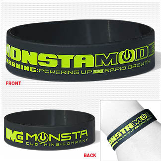 Wristband: Monsta Mode - Monsta Clothing Australia