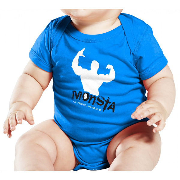 Baby: Monsta-Classicmuscle Onesie - Monsta Clothing Australia