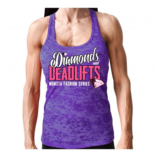 TANK: DIAMONDS AND DEADLIFTS RAZOR-185 - Monsta Clothing Australia