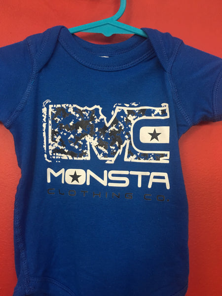 BABY: BLUE ONESIE - Monsta Clothing Australia