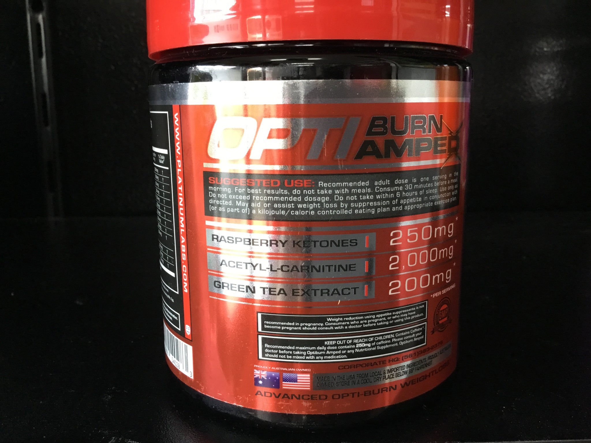 SUPPLEMENTS: OPTI-BURN AMPED - Monsta Clothing Australia