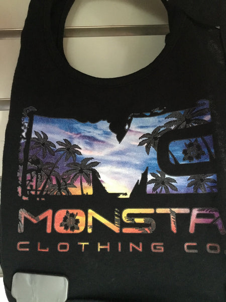 BLACK MONSTA SUNSET BIB - Monsta Clothing Australia