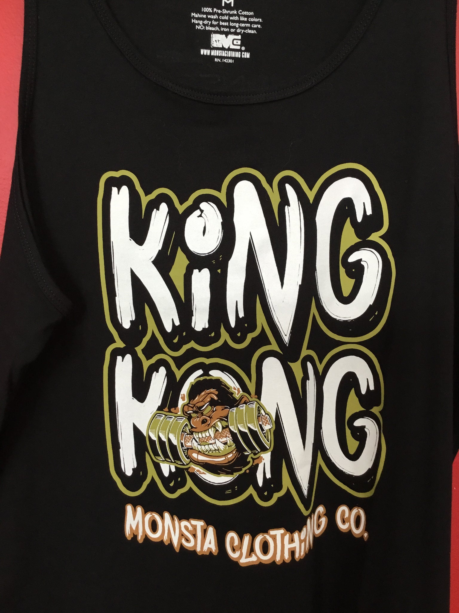Mens King Kong Tank - Monsta Clothing Australia