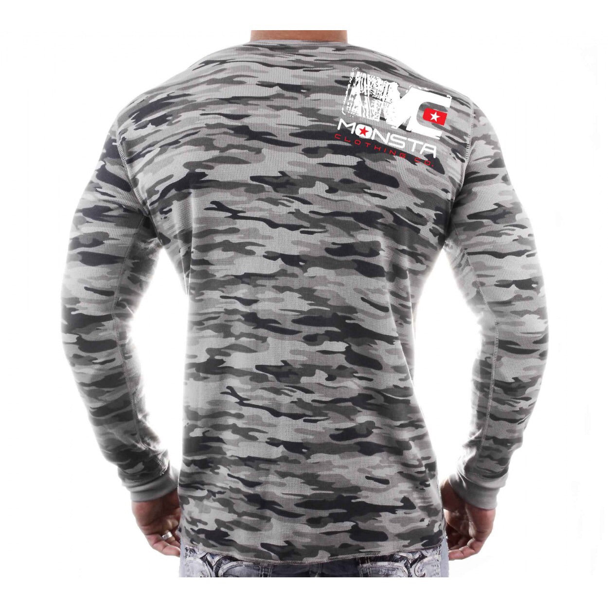 LONG SLEEVE: CAMO MONSTA LONGSLEEVE -258 - Monsta Clothing Australia