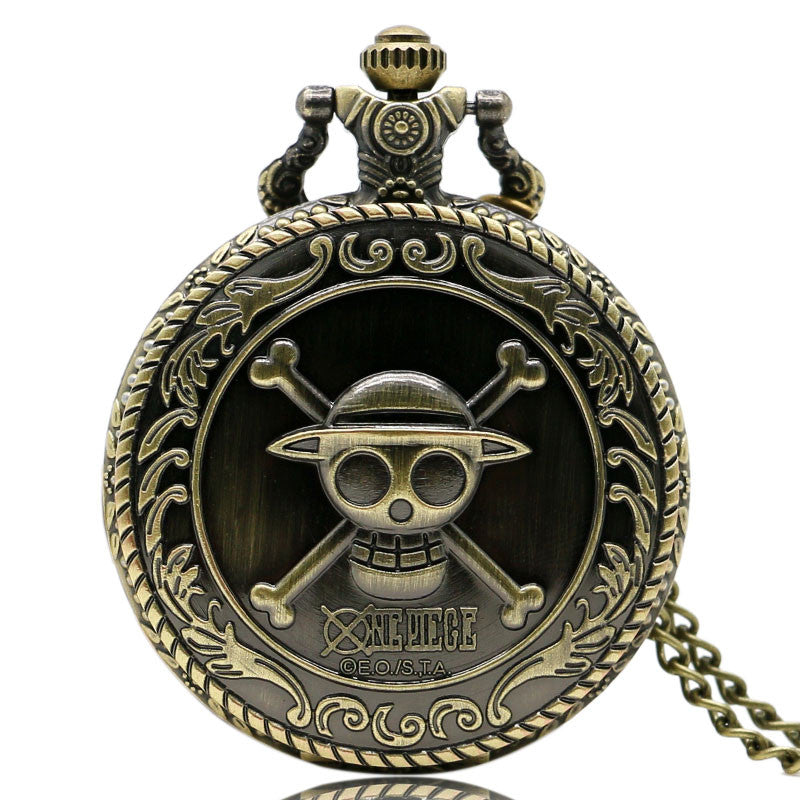 """One Piece"" Steampunk Quartz Pocket Watch"