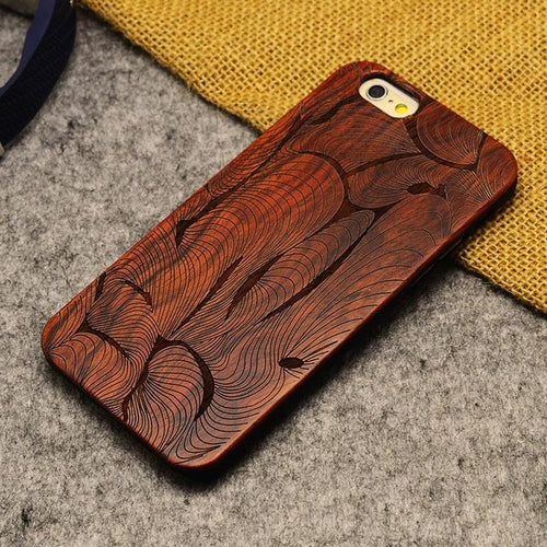 Carved iPhone Wood Case