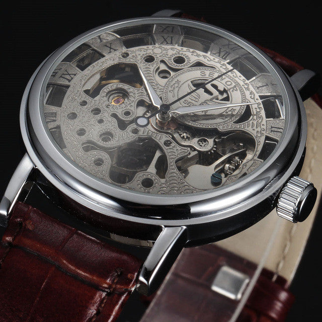 """Royal Carvings"" Mechanical Wristwatch"