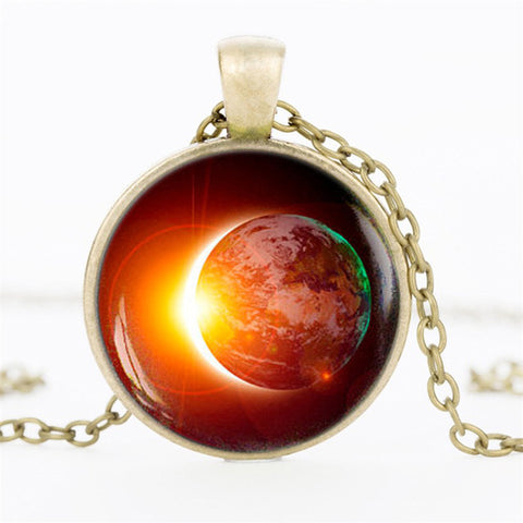 Solar Eclipse Galaxy Necklace
