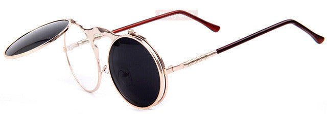 Flip-Lens Retro Sunglasses