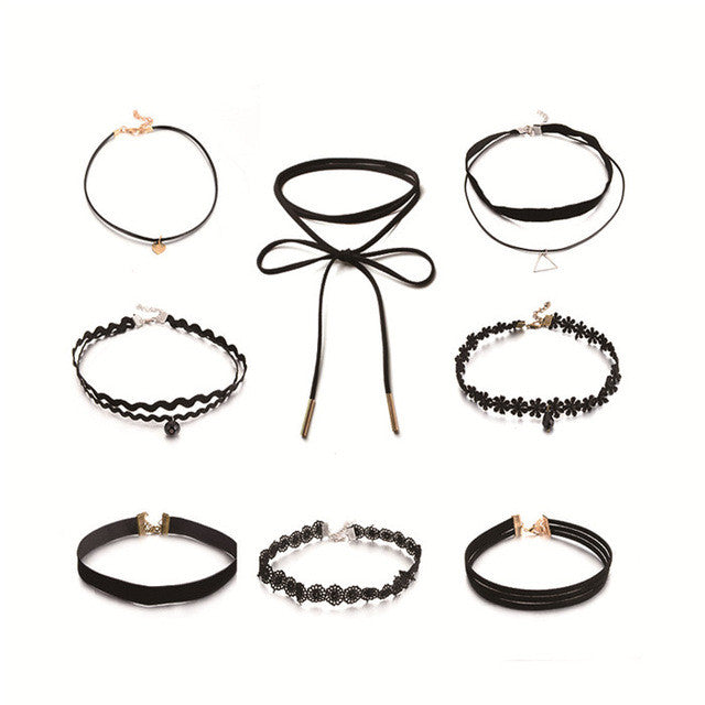 Crocheted Chokers (Set of 8)