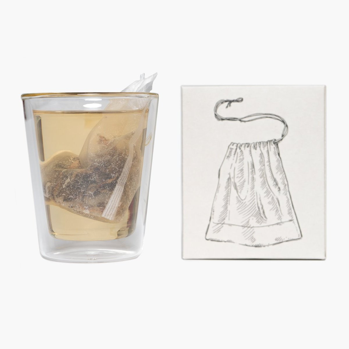Satchel tea filters - compostable, unbleached