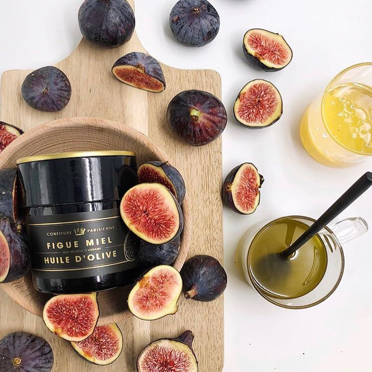 Fig, orange blossom honey and fruity olive oil