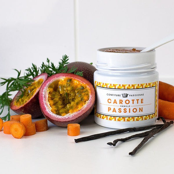 Carrot, passion fruit and vanilla