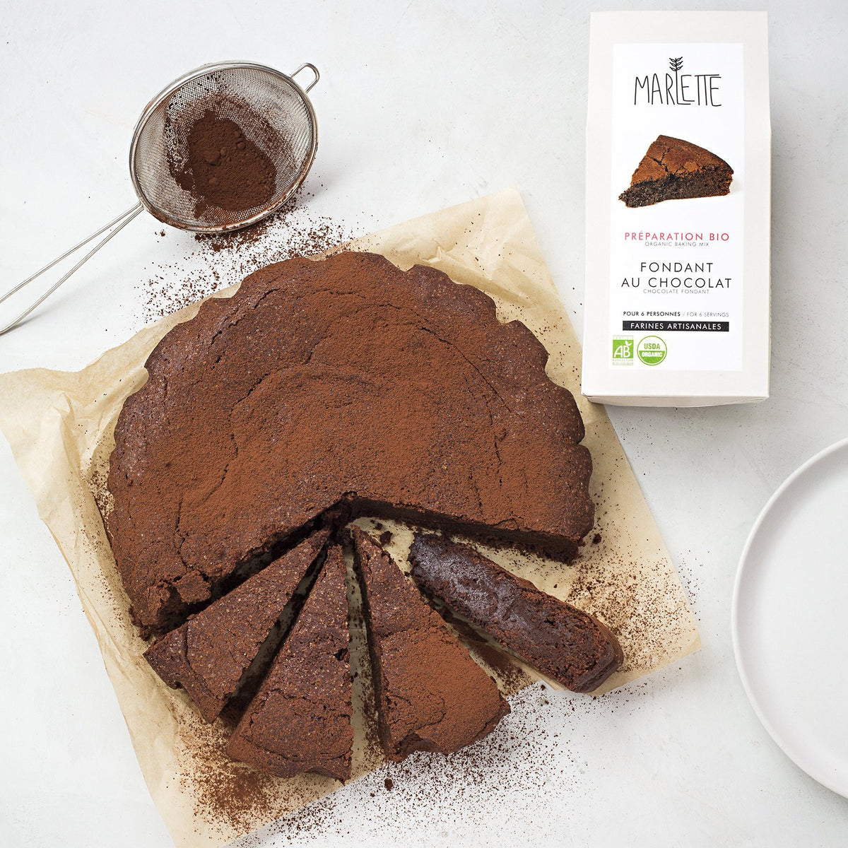 Chocolate fondant - organic baking mix