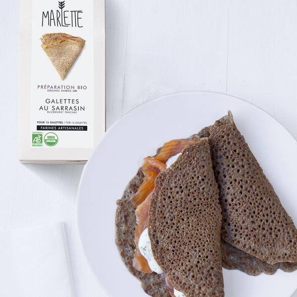 Buckwheat galettes (savory crepes) - organic baking mix