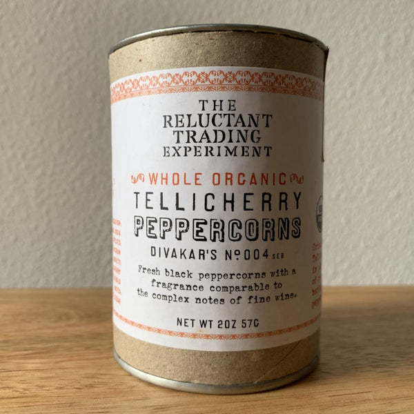 Organic black Tellicherry peppercorns - whole
