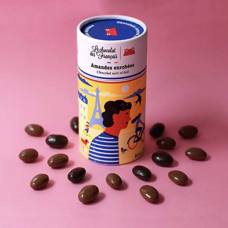 Box of chocolate covered almonds