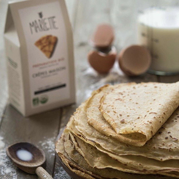Homemade crepes - organic baking mix