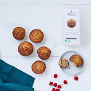 Raspberry muffins with fleur de sel - organic baking mix