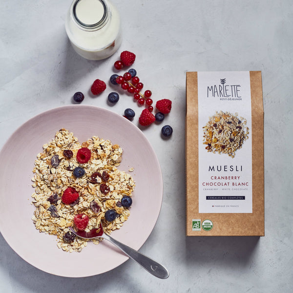 Cranberry & white chocolate organic muesli