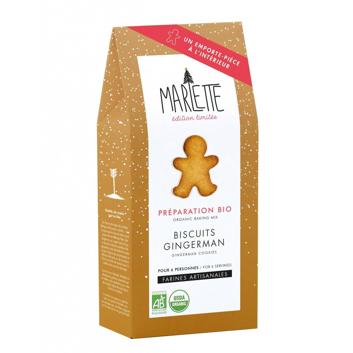 Gingerman cookies - organic baking mix + cookie cutter