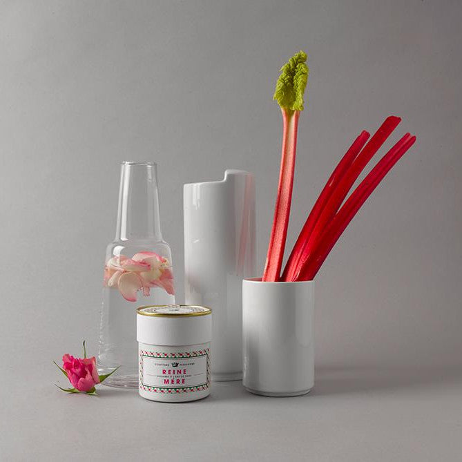 Rhubarb and rose water