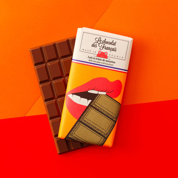 Small milk chocolate & hazelnuts, 41% cocoa - Organic