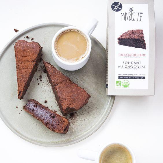 Gluten-free chocolate fondant - organic baking mix