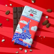 Small milk chocolate & almonds, 41% cocoa - Organic