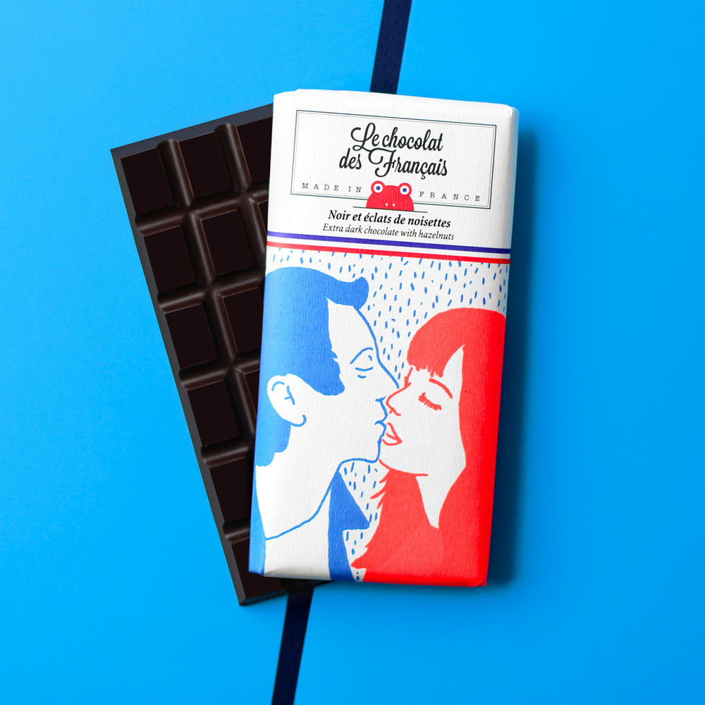 Small dark chocolate & hazelnuts, 71% cocoa - Organic
