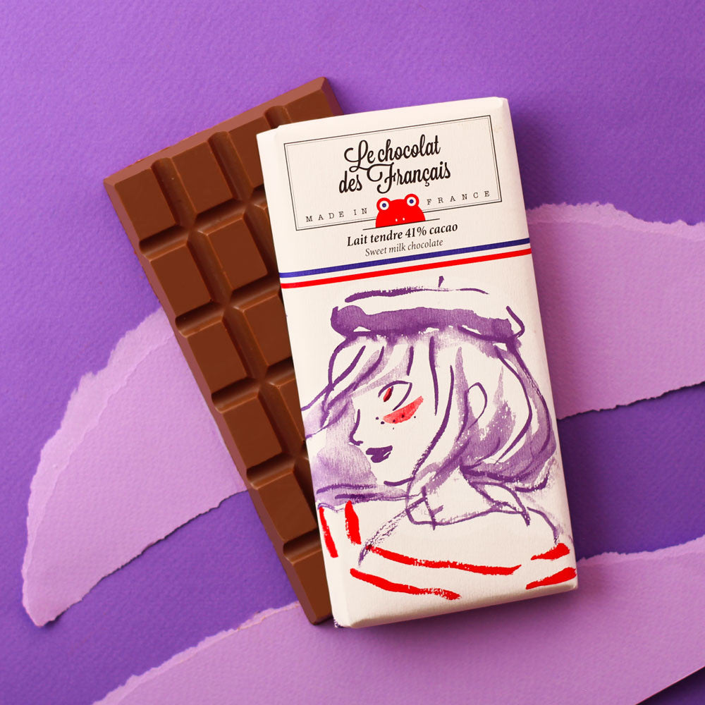 Tender milk chocolate, 41% cocoa - Organic
