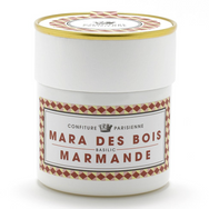 Mara des bois strawberry, Marmande tomato, and basil