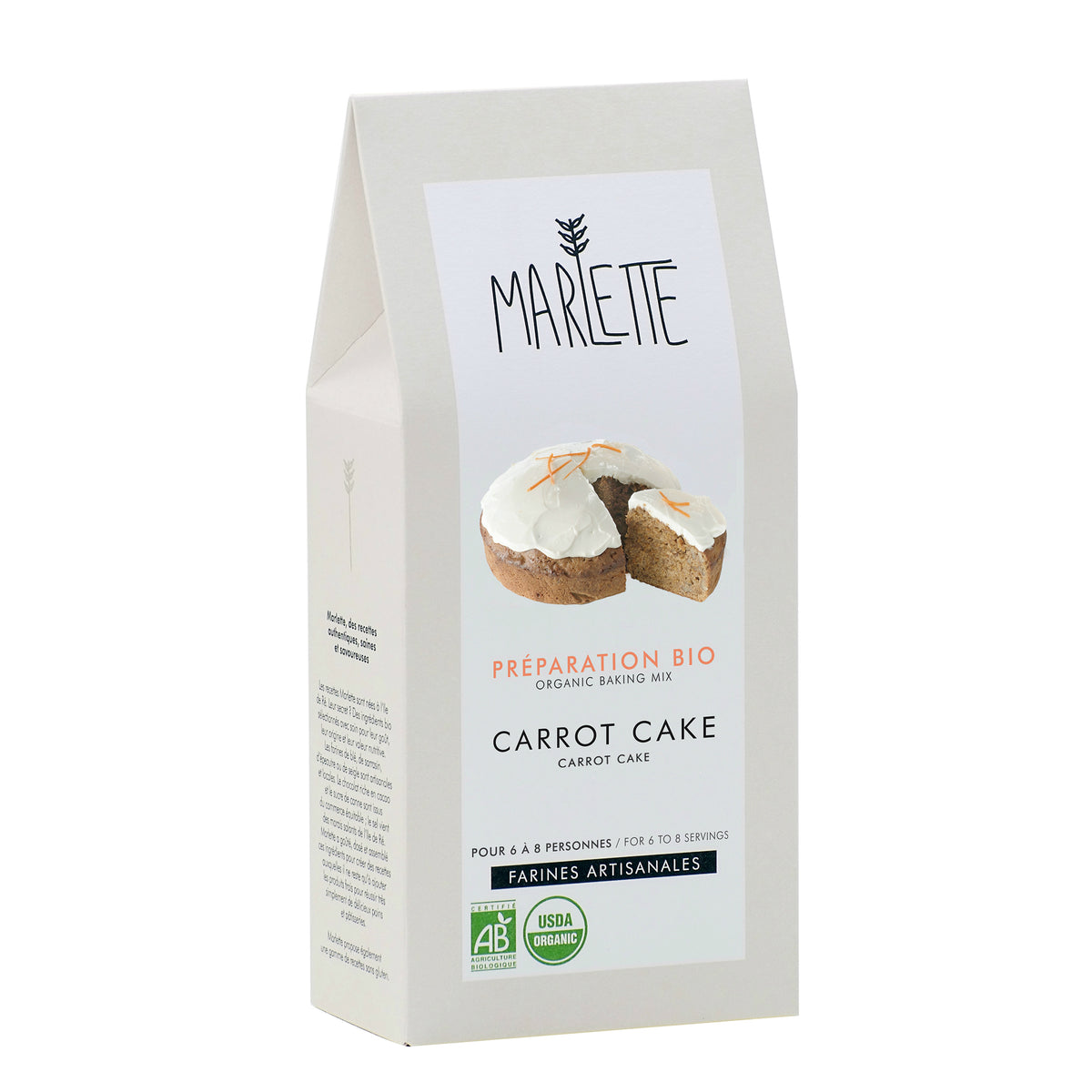 Carrot cake - organic baking mix