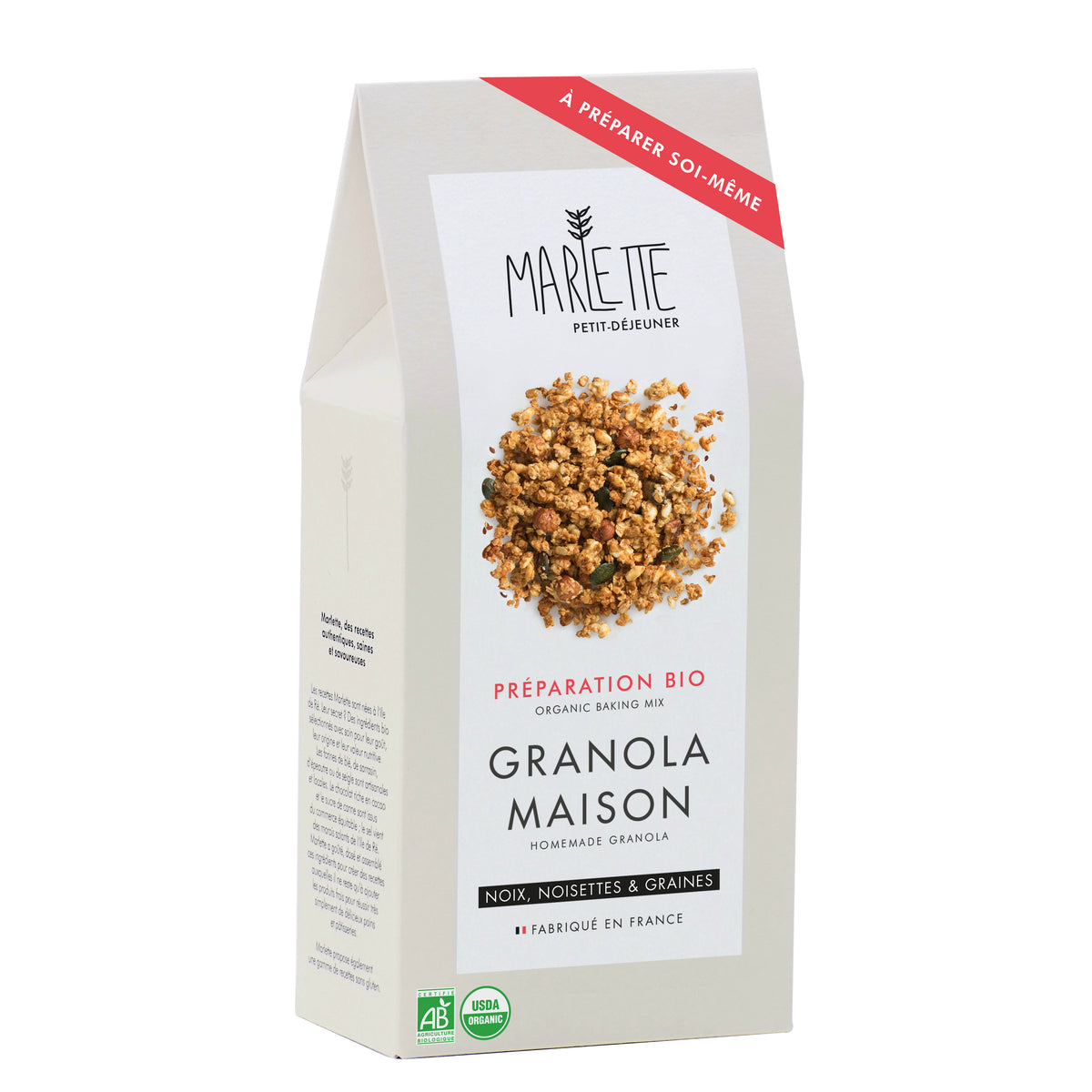 Homemade granola - organic baking mix