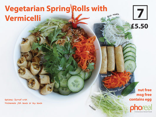 Vegetarian Spring Rolls with Vermicelli