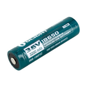 Olight 18650 3200mAh 3.6V Protected Lithium Ion (Li-ion) Button Top Battery - Plastic Box
