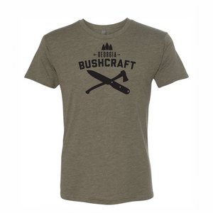 Georgia Bushcraft Logo T-Shirt - Military Green